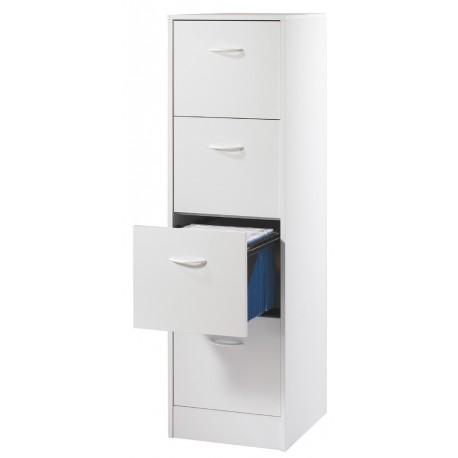 Meuble classeur 4 tiroirs pour dossiers suspendus