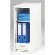 Storage cabinet with roller shutter, white, plain or printed