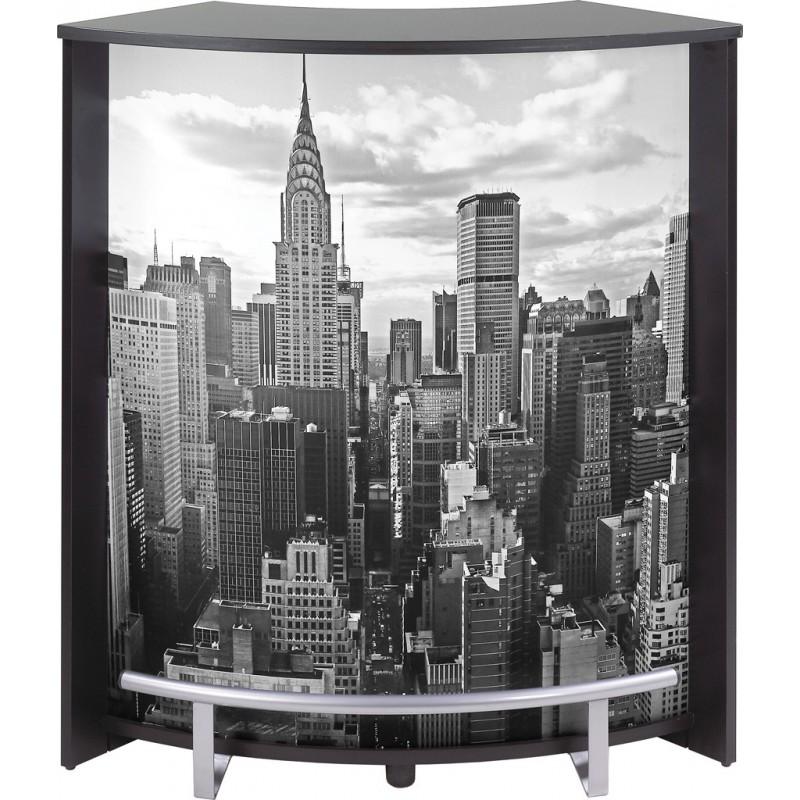 meuble comptoir bar noir imprim simmob. Black Bedroom Furniture Sets. Home Design Ideas