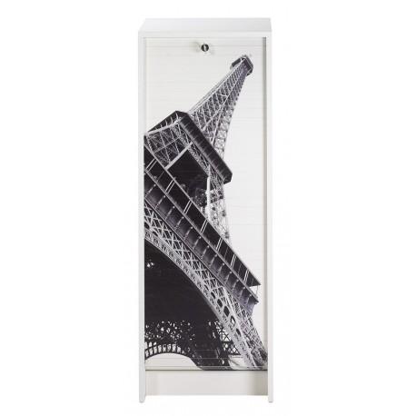 Classeur à rideau Blanc Tour Eiffel Paris