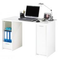 Complete desk, 2 roller-shutter cabinets + desktop, white, plain or printed