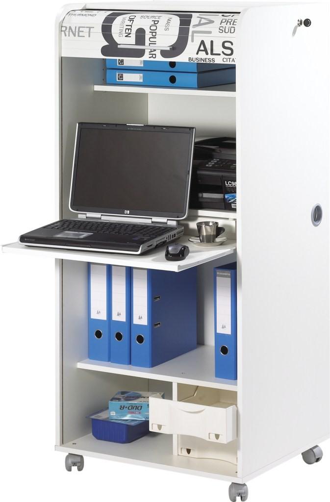 Armoire informatique for Bureau 85 cm largeur