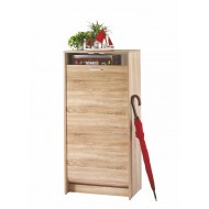 Shoe cabinet Oak shutter door, plain or printed