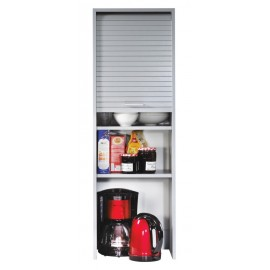 Roller-shutter kitchen cabinet Aluminium L. 40 cm H.123.6 cm (wall-mounting or standing)