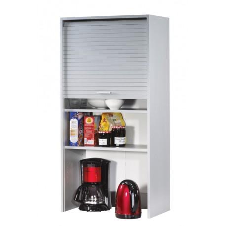 Meuble haut de cuisine aluminium largeur 60 cm hauteur 123 for Meuble de cuisine haut