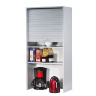 Roller-shutter kitchen cabinet Aluminium L. 60 cm H.123.6 cm (wall-mounting or standing)