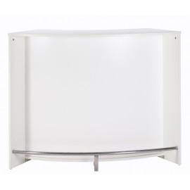 Bar drinks cabinet, kitchen top, reception desk, White - L.134cm