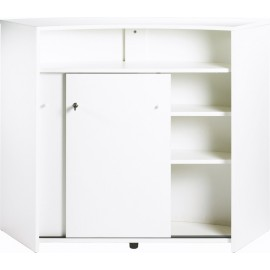 Bar drinks cabinet, kitchen top, reception desk, White + 2 doors