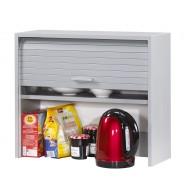 Roller-shutter kitchen cabinet Aluminium H.53.6 cm
