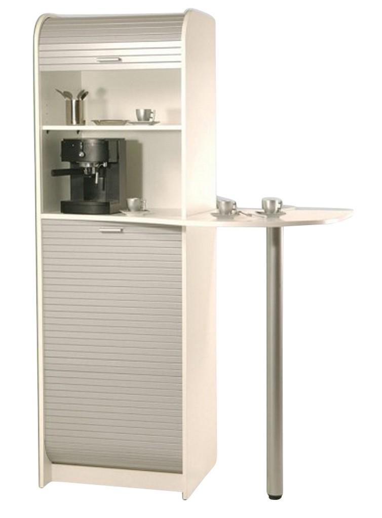 Meuble Micro Onde Cuisine meuble pause café, micro-onde blanc + alu - simmob