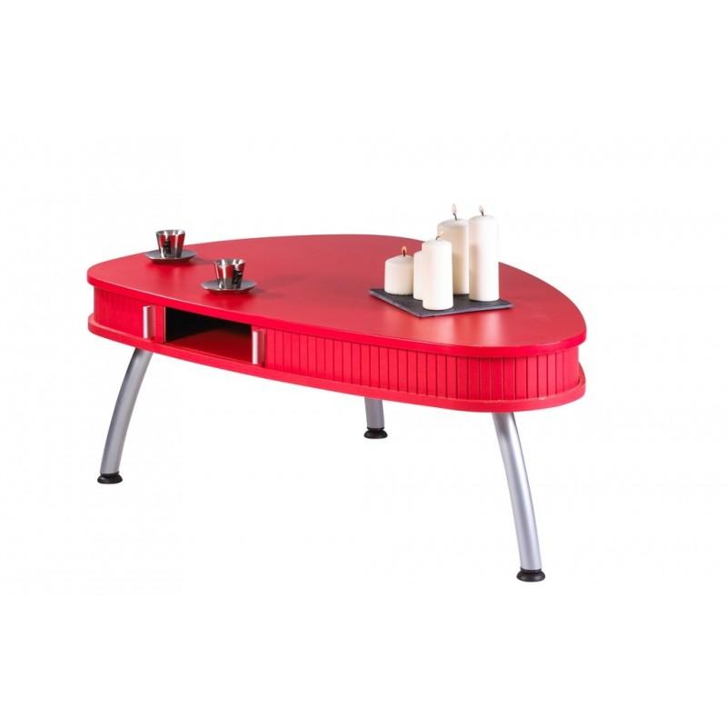 Table Basse Rouge Table Basse Design Ronde | Maisonjoffrois