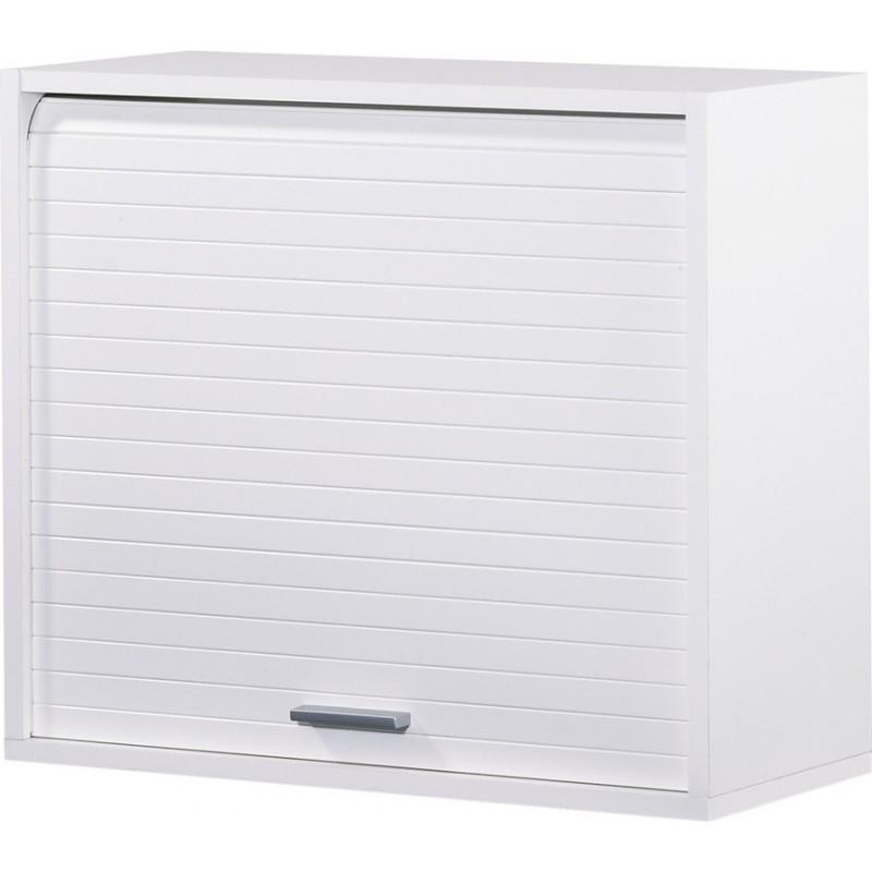 Roller Shutter Kitchen Cabinet White H 53 6 Cm Simmob