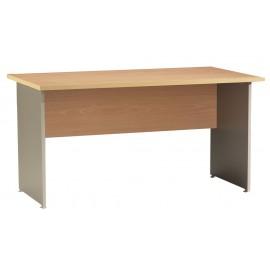 Winch desk 140 x 80 cm Beech Alu