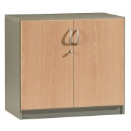 Office cabinet 2 doors Beech Alu