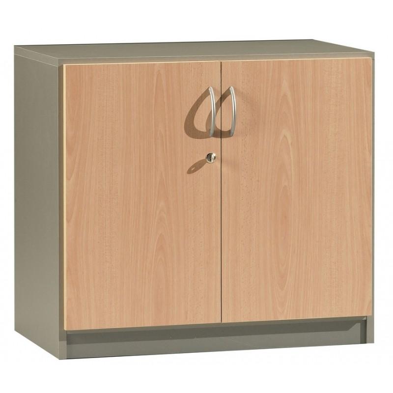 Office Cabinet 2 Doors Beech Alu Simmob