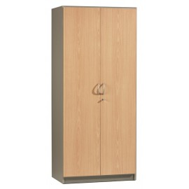 Tall office cupboard 2 doors Beech Alu