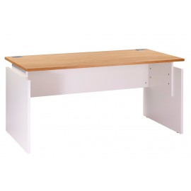 Desk INEO 160 x 80 cm White + Light oak - Height-adjustable