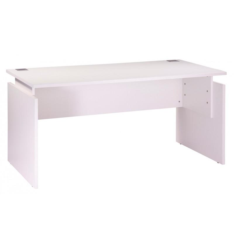 bureau ineo 160 x 80 cm blanc r glable en hauteur simmob. Black Bedroom Furniture Sets. Home Design Ideas