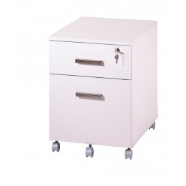 Office pedestal 2 drawers Ineo White with pen-tray