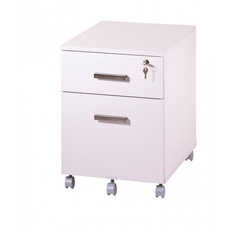 caisson de bureau 2 tiroirs ineo blanc avec plumier simmob. Black Bedroom Furniture Sets. Home Design Ideas