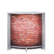 Comptoir Bar Alu Mur de Briques Rouges