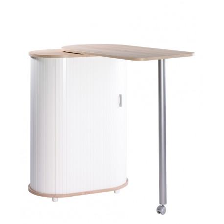 Table pivotante et meuble de rangement de cuisine ch ne for Table cuisine rangement integre