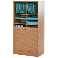 Double roll top cabinets 140 cm