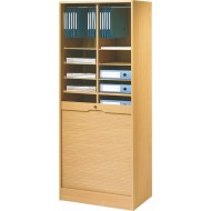 Double roll top cabinets 172 cm