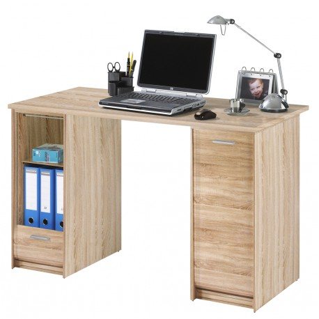 Bureau 2 caissons chene naturel