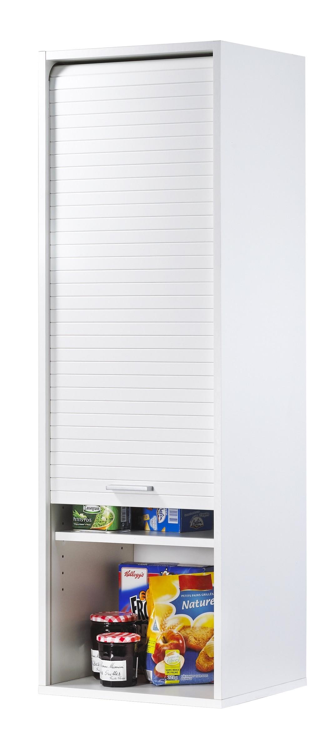 Armoire a rideau coulissant 49321 armoire id es for Element de cuisine blanc