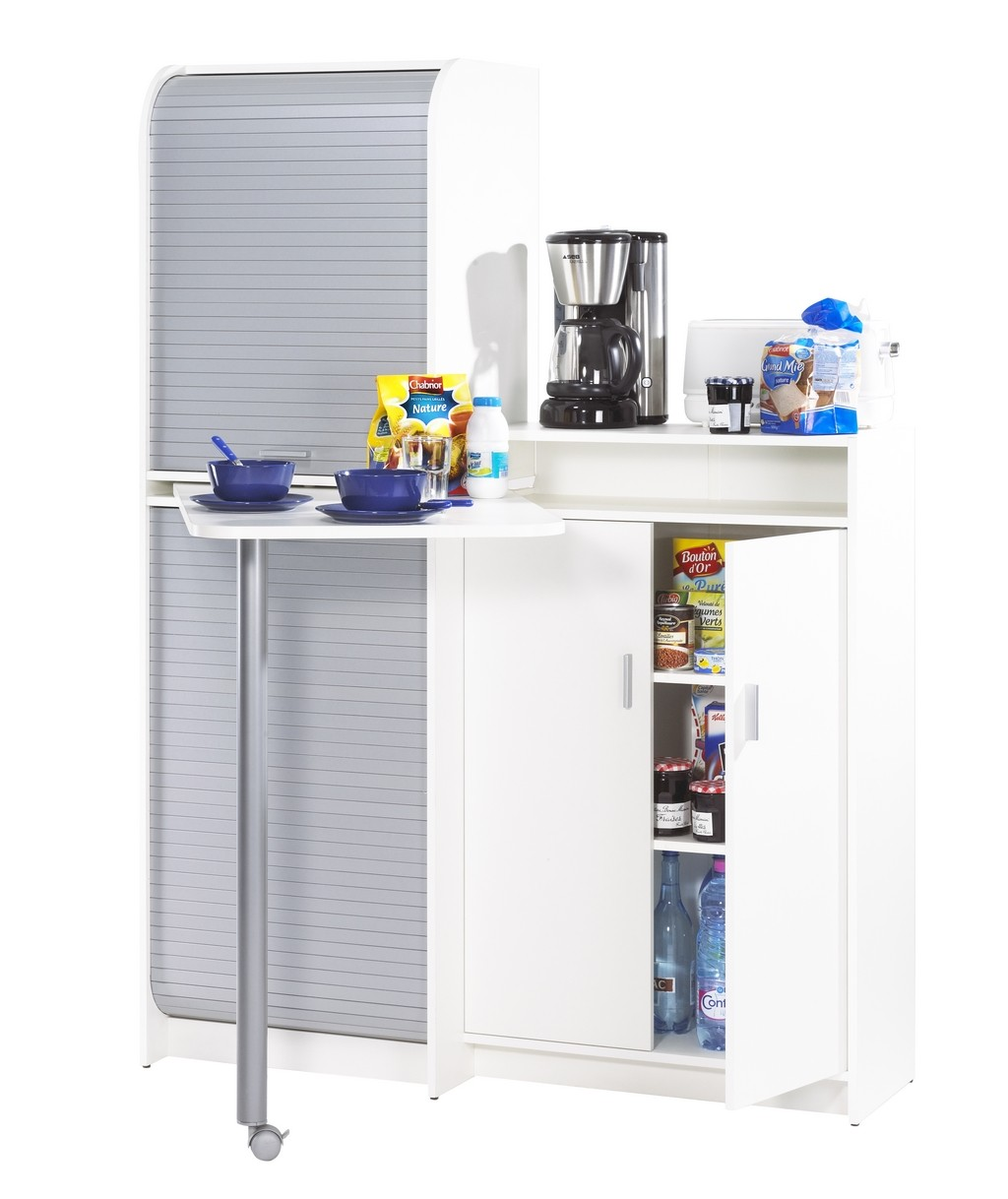 Compact Kitchen Sideboard With Pivoting Table 90 Simmob