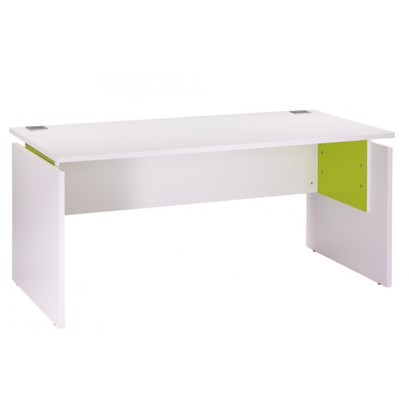 bureau ineo 160 x 80 cm blanc anis r glable en hauteur. Black Bedroom Furniture Sets. Home Design Ideas
