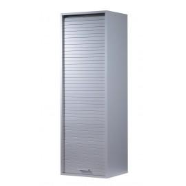 Meuble de Salle de Bains Coloris Aluminium Largeur 40 cm Hauteur 123.6 cm