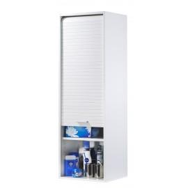 Roller-shutter bathroom cabinet - White 123.6 cm