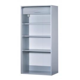 Roller-shutter bathroom cabinet - Alu 60 x 124