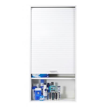 meuble haut salle de bains blanc 60 cm simmob