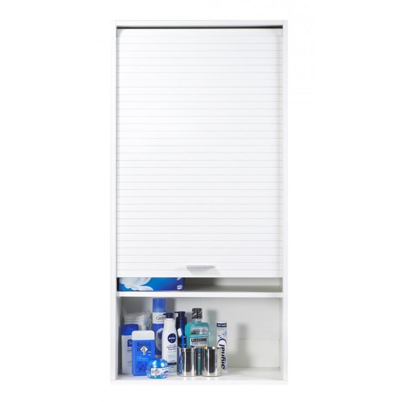 meuble haut de salle de bains blanc largeur 60 cm hauteur 123 6 cm simmob. Black Bedroom Furniture Sets. Home Design Ideas