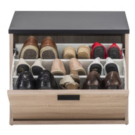 Shoe cabinet / bench 9 pairs flat shoes