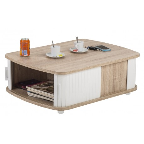 Table Basse Rectangle 80 cm Chêne Naturel