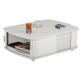 Table Basse Rectangle 80 cm Blanche