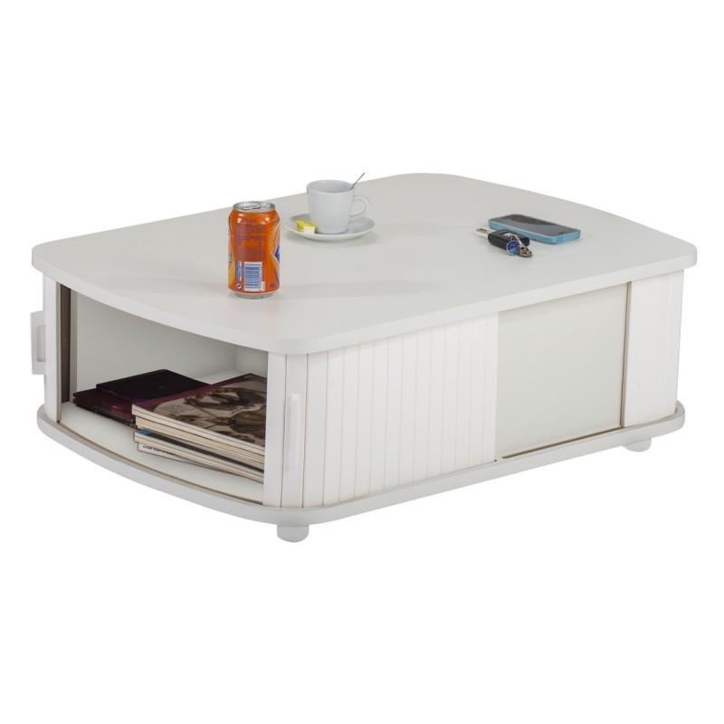 Table Basse Rectangle 80 Cm Blanche Simmob