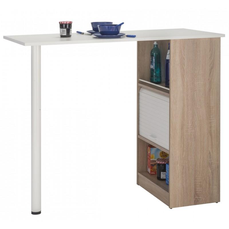 meuble rangement de cuisine ch ne avec table simmob. Black Bedroom Furniture Sets. Home Design Ideas