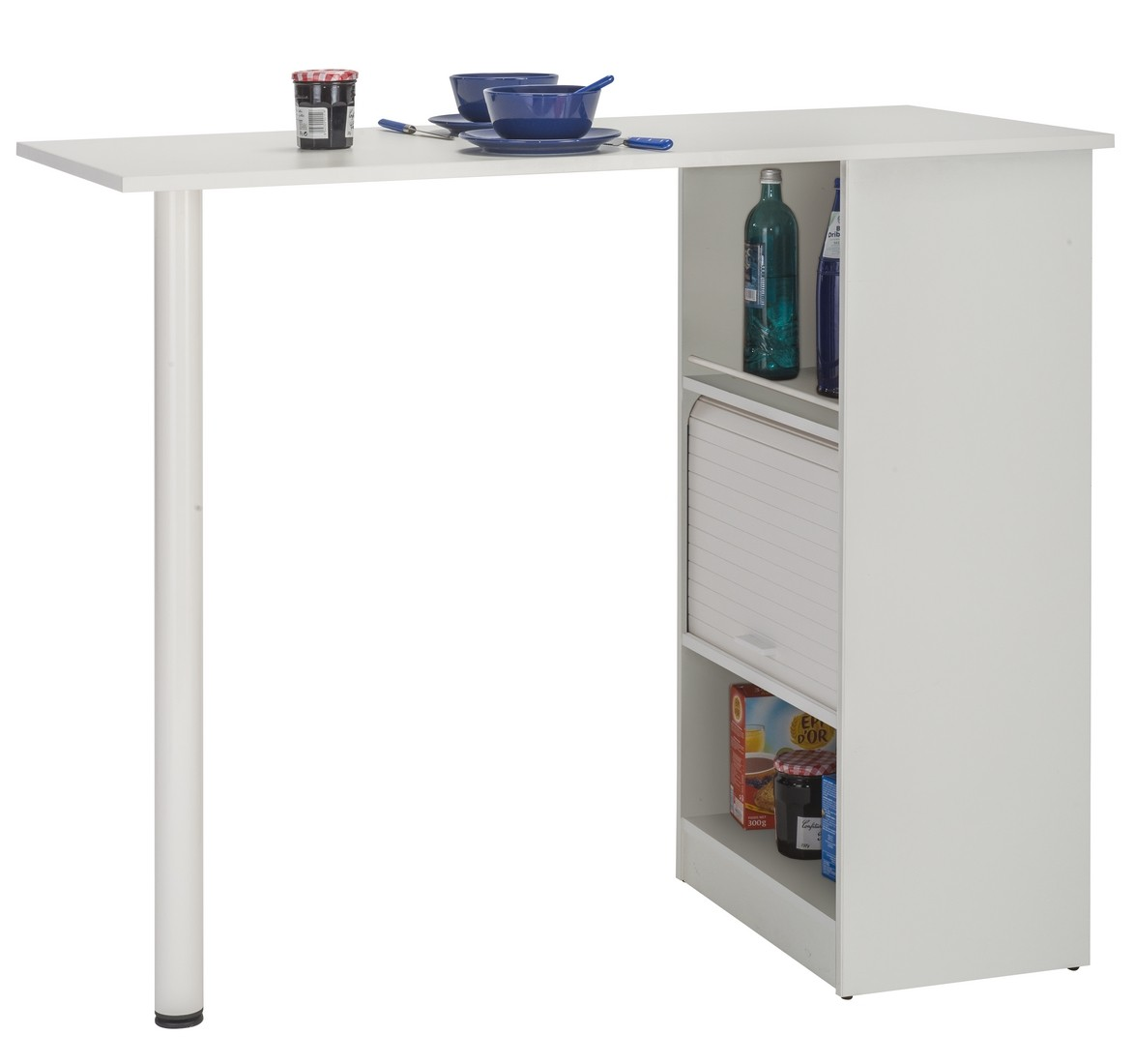 Kitchen Cabinet With Table Top Breakfast Bar White Simmob