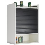 Kitchen cabinet 3 compartments - Roller-shutter - White