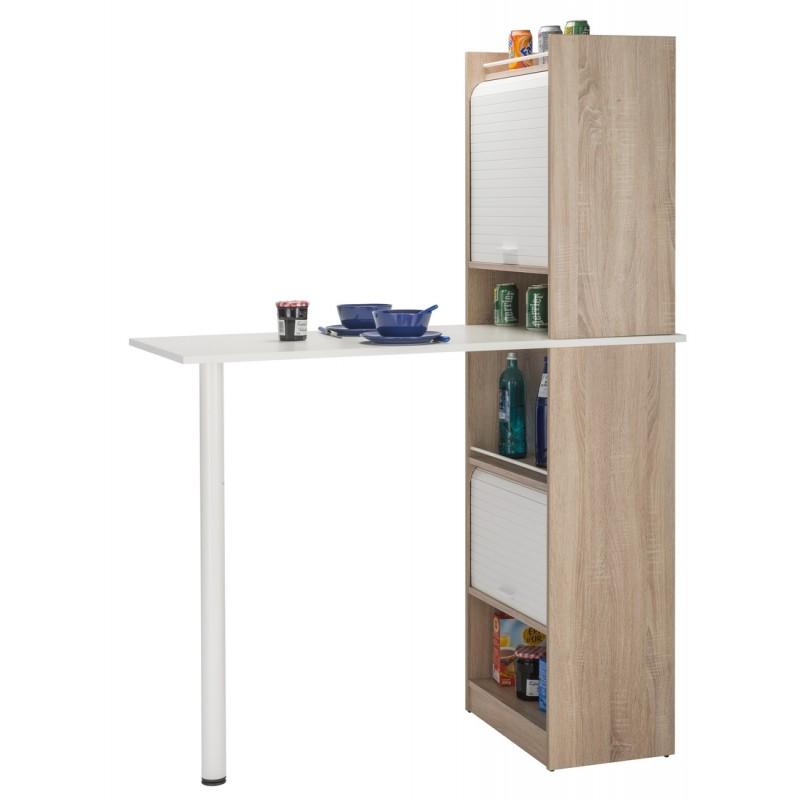 Table Rangement Cuisine : table de cuisine et 2 meubles de rangement chene simmob ~ Teatrodelosmanantiales.com Idées de Décoration