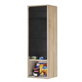 Roller-shutter kitchen cabinet White L. 40 cm H.123.6 cm (wall-mounting or standing)
